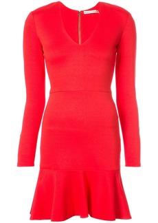 Alice + Olivia Alice+Olivia peplum hem mini dress - Red