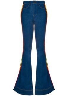 Alice+Olivia rainbow side panel flared jeans - Blue