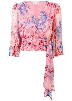 Alice + Olivia sash floral blouse