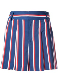 Alice + Olivia Alice+Olivia striped print high waist shorts - Blue