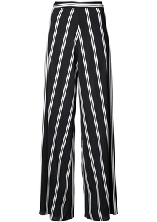 Alice + Olivia Alice+Olivia striped wide leg trousers - Black