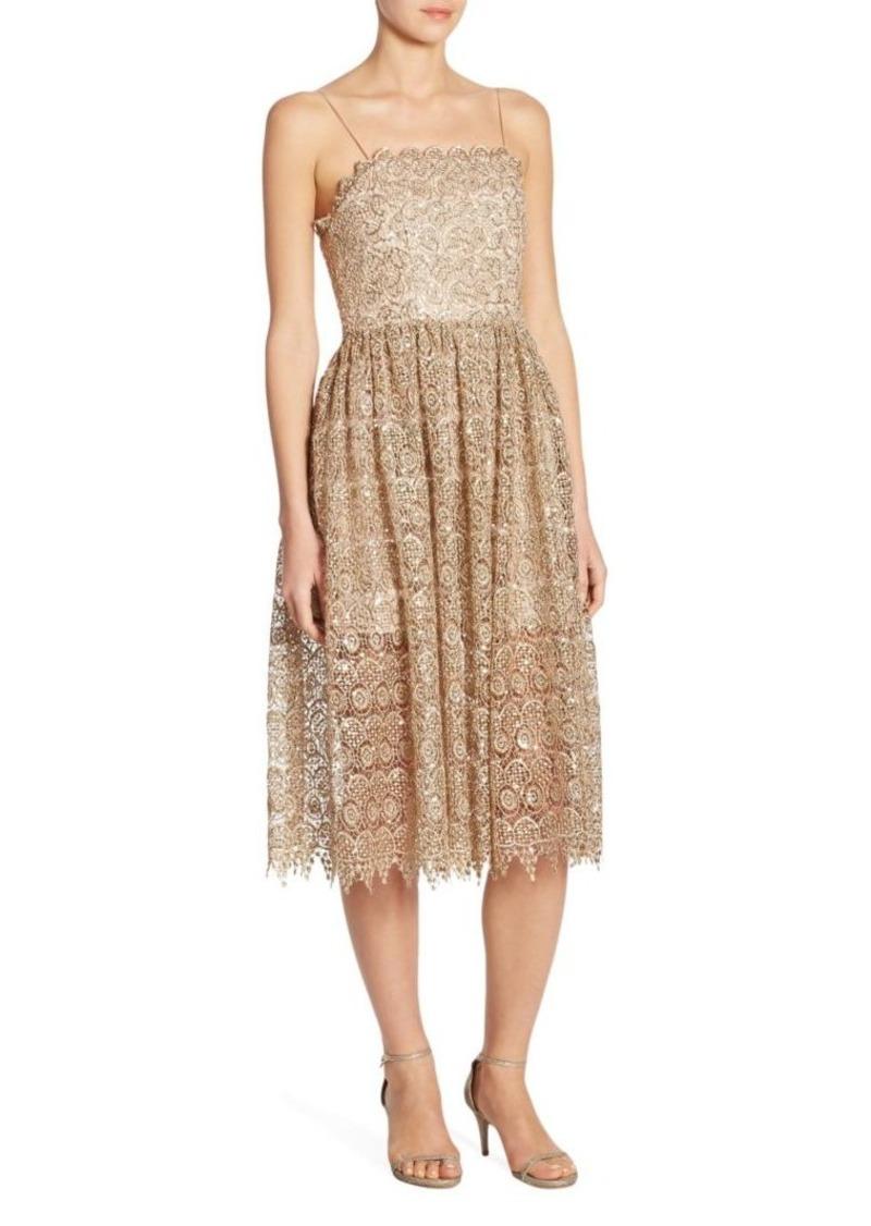 Alice + Olivia Alma Lace Party Dress