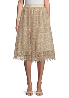 Alice + Olivia Almira Embellished Skirt