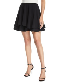 Alice + Olivia Alva Asymmetric Layered Flare Skirt