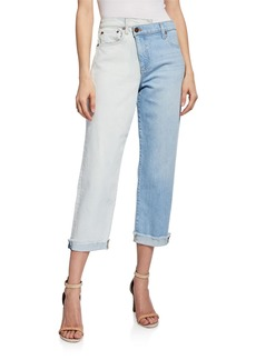 Alice + Olivia Amazing Asymmetrical Slim Straight Jeans