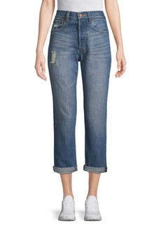 Alice + Olivia Amazing High-Rise Distressed Jeans