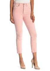 Alice + Olivia Alice + Olivia Jeans Amazing High Rise Girlfriend Slim Nonstretch Jeans (Perfect Pink)