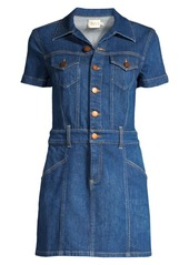 Alice + Olivia Amazing Mini Denim Shirtdress