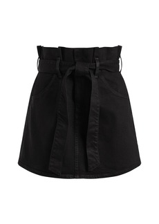 Alice + Olivia Amazing Paperbag Denim Mini Skirt