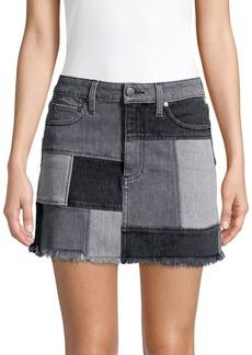 Alice + Olivia Amazing Patchwork Denim Skirt