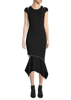 Alice + Olivia Ameera Cut-Out Mermaid Midi Dress