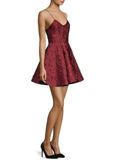 Alice + Olivia Anette Brocade Mini Dress