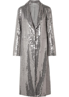 Alice + Olivia Angela Sequined Crepe Coat