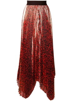 Alice + Olivia animal print pleated skirt