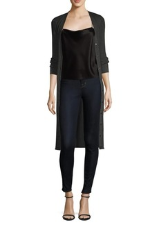 Alice + Olivia Annika Ribbed Long Cardigan