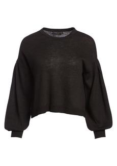 Alice + Olivia Ansley Blouson Cropped Sweater