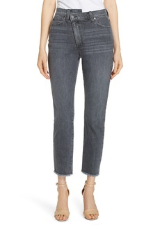 AO.LA by alice + olivia Amazing Asymmetrical Slim Straight Jeans (Night Walk)