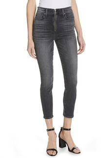 AO.LA by alice + olivia Good Exposed Zip Ankle Skinny Jeans (Black Magic)