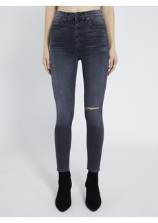 AO.LA by alice + olivia GOOD HIGH RISE ANKLE SKINNY JEAN