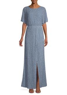 Alice + Olivia Arora Embellished Chambray Dress