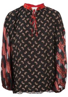 Alice + Olivia Asha multi-print blouse