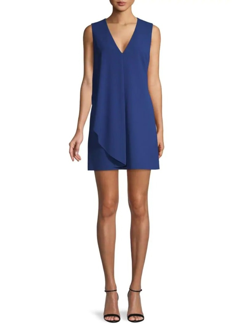 Alice + Olivia Asymmetrical Drape Mini Dress