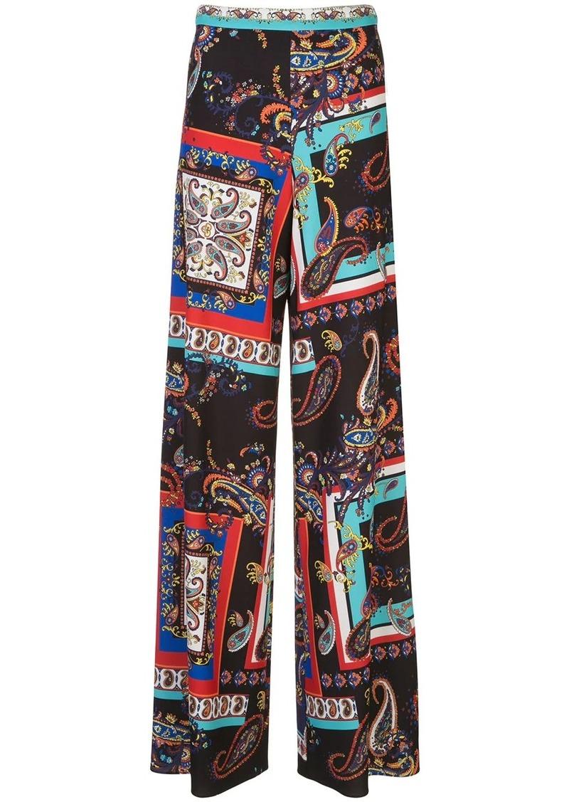 Alice + Olivia Athena paisley-print trousers