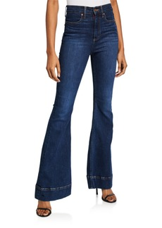 Alice + Olivia Beautiful High-Rise Bell Jeans