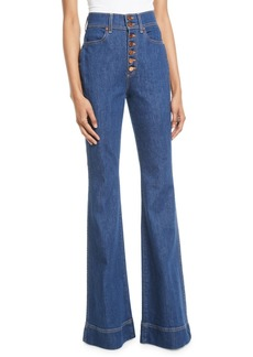 Alice + Olivia Beautiful High-Rise Wide-Leg Jeans