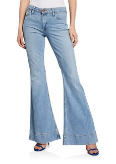 Alice + Olivia Beautiful Mid-Rise Bell Jeans