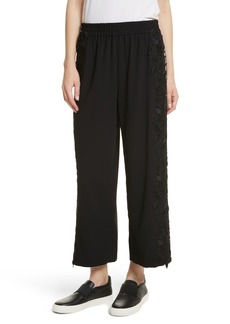 Alice + Olivia Benny Side Lace Crop Pants