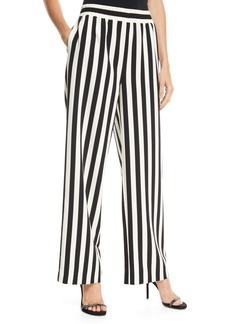Alice + Olivia Benny Smocked-Waistband Pants