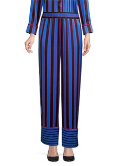 Alice + Olivia Benny Striped Silk Pajama Pants