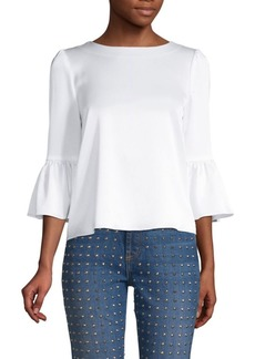 Alice + Olivia Bernice Ruffle-Sleeve Top