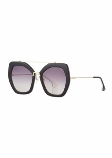 Alice + Olivia Bowery Square Sunglasses  Black