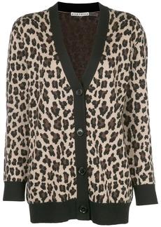 Alice + Olivia Bradford leopard-print cardigan