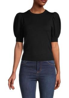 Alice + Olivia Brady Puff-Sleeve Pullover