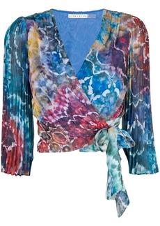 Alice + Olivia Bray tie dye blouse