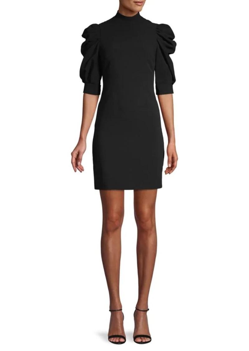 Alice + Olivia Brenna Puff-Sleeve Dress