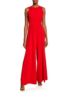 Alice + Olivia Bret Pleated Wide-Leg Jumpsuit