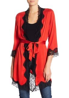 Alice + Olivia Briley Silk Blend Lace Robe