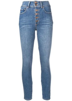 Alice + Olivia button front skinny jeans