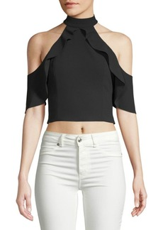 Alice + Olivia Cabot Cold-Shoulder Top