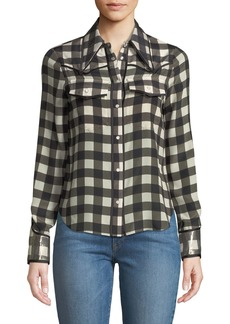 Alice + Olivia Caleb Western Button-Down Top