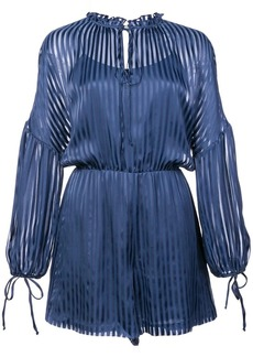 Alice + Olivia Callan striped romper