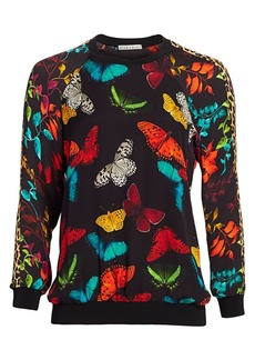 Alice + Olivia Calvin Butterfly-Print Sweatshirt