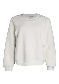 Alice + Olivia Calvin Faux-Shearling Sweater