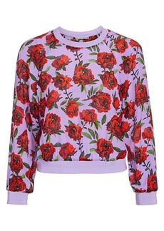 Alice + Olivia Calvin Rose Graphic Sweatshirt