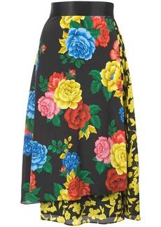 Alice + Olivia Camellia bouquet print skirt