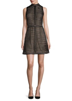 Alice + Olivia Carlotta Studded Leather Mini Dress